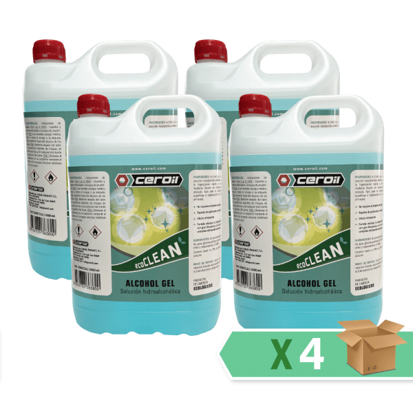 aditivos ceroil ECO CLEAN - Alcohol Gel 5L - Caja 4