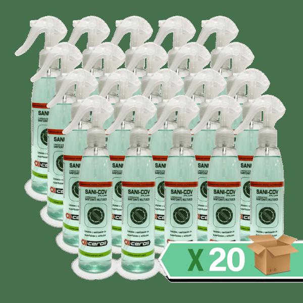 aditivos ceroil SANI-COV PLUS - LIMPIADOR SANITIZANTE MULTIUSOS 250ml - Caja 20