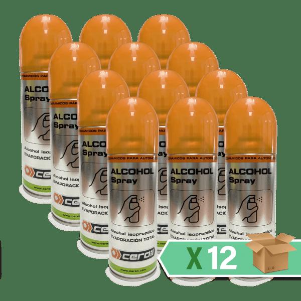aditivos ceroil ECO CLEAN - Alcohol isopropílico 100% (spray de 400ml) - Caja 12